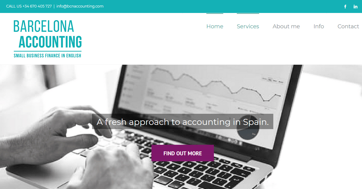 Accounting company web page creation in Barcelona