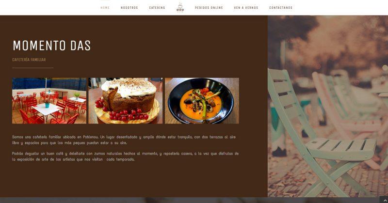 Diseño web y SEO de una cafeteria restaurante en Barcelona · Wordpress Barcelona Nicola Mostallino