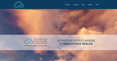 Web de agencia de marketing en Barcelona Wordpress Alocin