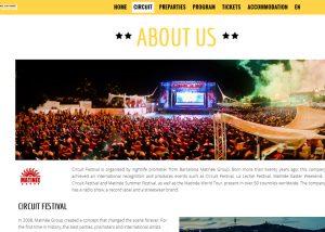 Circuit Barcelona web page para grandes eventos · Nicola Mostallino Alocin