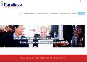 Pagina web de consultoria de traducciones y idiomas en Barcelona · Wordpress Alocin