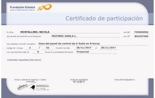 Certificado G-suite Nicola Mostallino